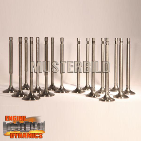 16 Ventile: 8x Einlassventil, 8x Auslassventil für Peugeot / Citroen KFU